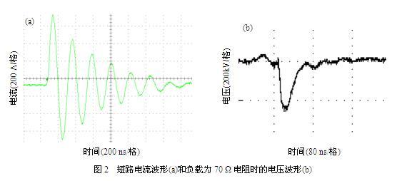 (结构电容即开关电极对地的分布电容)组成,如图1所示。因为锐化电容的存在,可以在负载上获得更快的脉冲前沿(刘锡三,高功率脉冲技术,2005)。  Mini-Marx发生器设计要求回路的串联电感尽可能地小,主要遵循以下几个原则: (1) Mini-Marx发生器整体结构设计为同轴结构。储能电容器、充电电阻、各级气体开关及引线全部封装于金属筒内,形成同轴结构。采用同轴结构可以很大程度上减小回路电感,有利于结构的紧凑性。同时金属筒接地起到电磁屏蔽的作用,降低了电磁辐射对人体的危害。 (2) Mini-Marx发